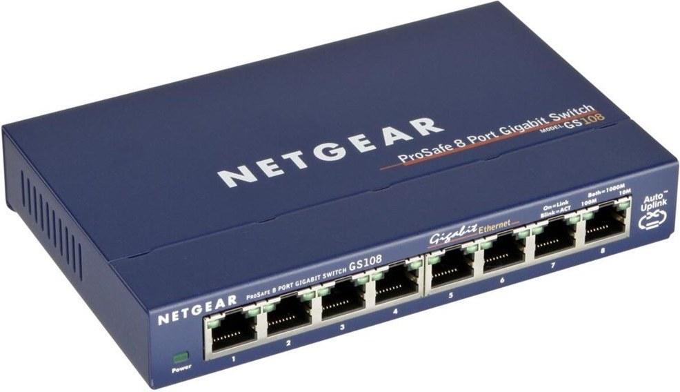 NETGEAR 8xGIGABIT Desktop switch, GS108GE