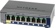 Netgear switch GS108T-200GES, 8 port. 10/100/1000Mbps