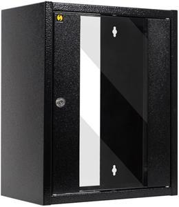 """Netrack, Rack 10"""", 9U/300mm, zavesná skriňa, sklenené dvere"""