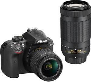 Nikon D3400 + AF-P 18-55 VR + 70-300 VR čierny