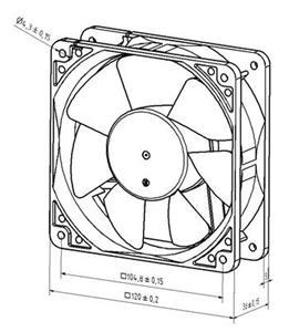 NOISEBLOCKER Industrial 12038-2800-12 120mm fan