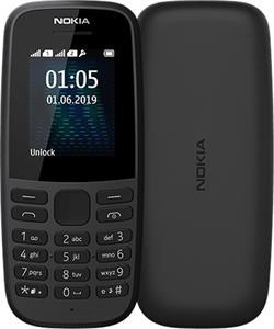 Nokia 105, 2019, Single SIM, čierny