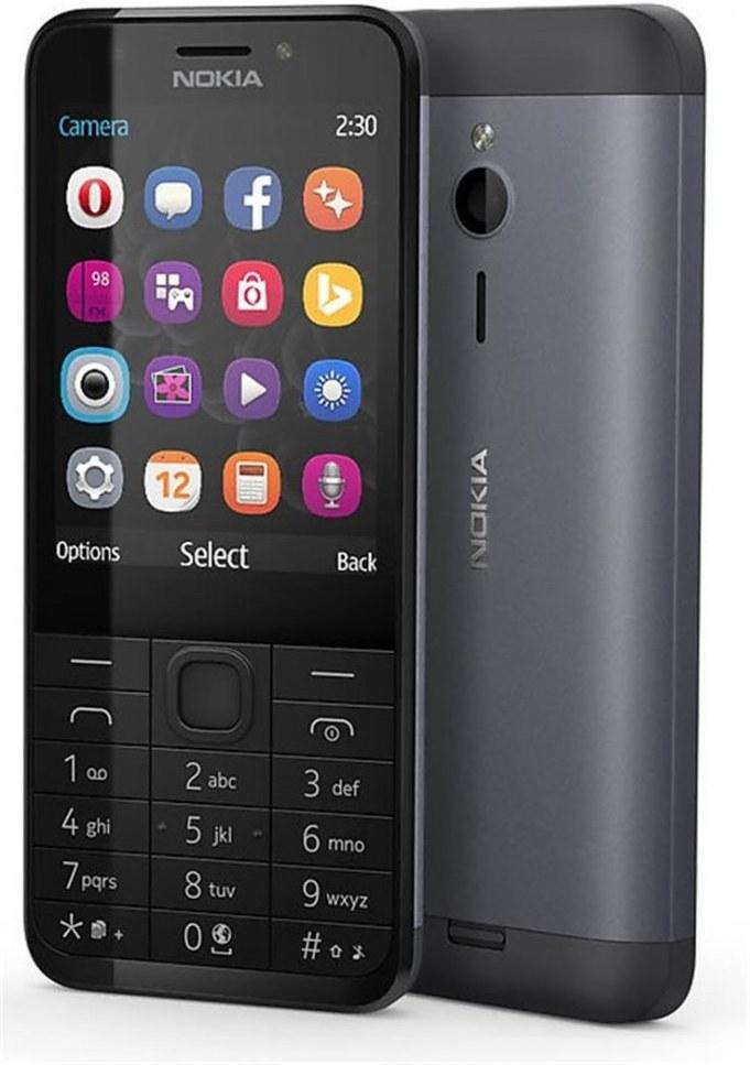 Nokia 230, Dual SIM, čierna , hliníkové telo