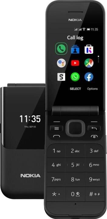 NOKIA 2720, Dual SIM, čierny