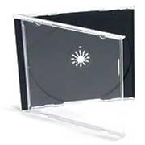 Obal na 1 CD/čierny/hruby
