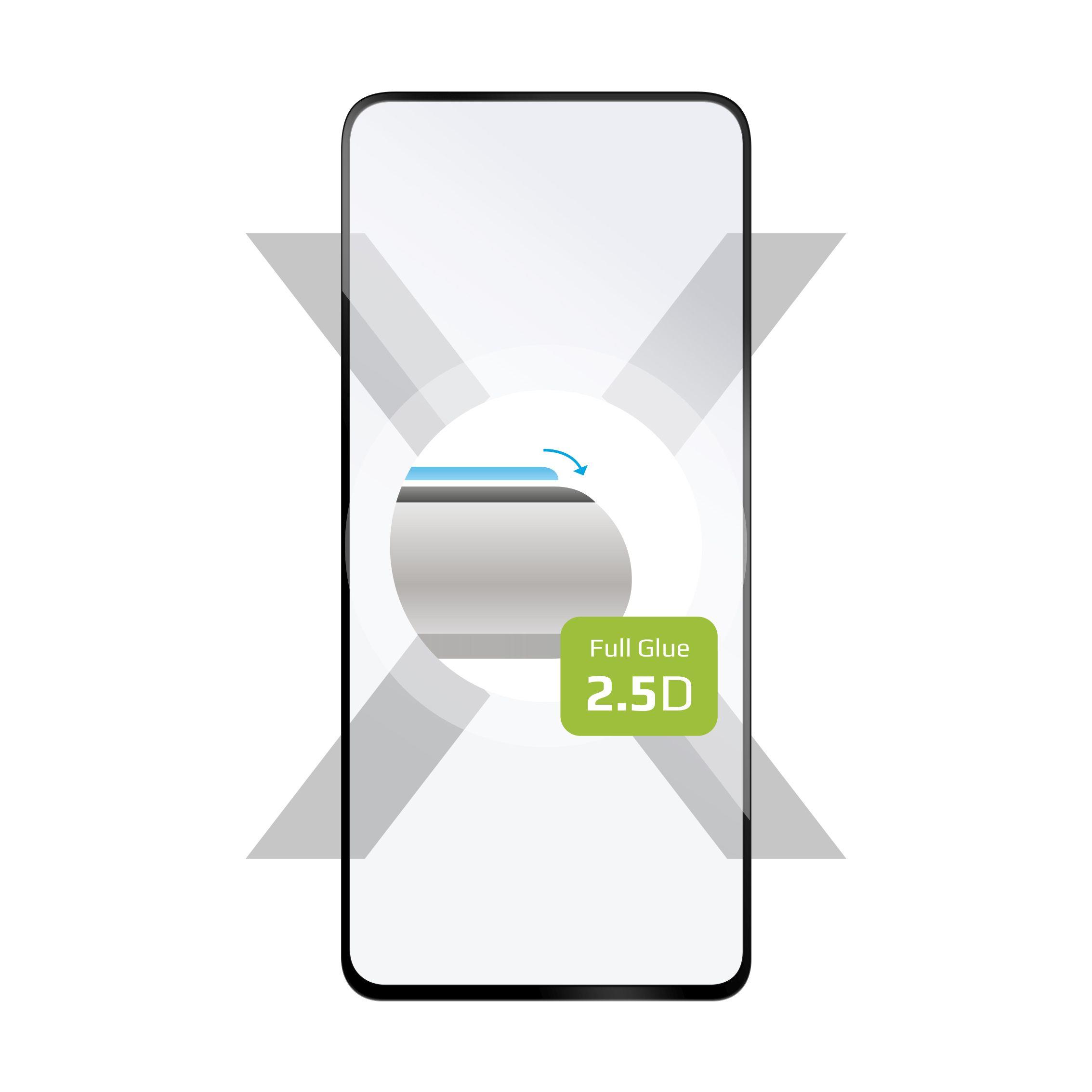 Ochranné tvrdené sklo FIXED Full-Cover pre Xiaomi Redmi Note 9 Pro 5G, lepenie cez celý displej, čierne