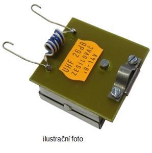 OEM anténní zesilovač kanálový 26 dB (K 55 až 57) průběžný
