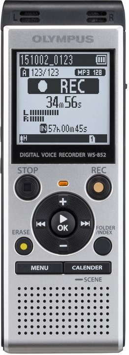 Olympus WS-852, diktafón, Strieborný