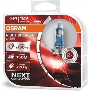 Osram Night Breaker Laser H4 +150% 2ks/bal.