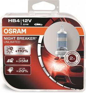 Osram Night Breaker Unlimited 9006NBU HB4 +110% 2ks/bal.