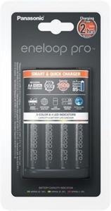 Panasonic BQ-CC55 Smart & Quick Charger + Eneloop Pro R6/AA 2500mAh, 4 ks