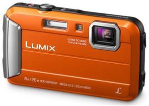 Panasonic DMC-FT30EP-D, 16Mpx, 4x zoom 25mm OIS, HD, vodotěsný 8m, oranžový