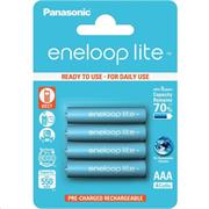 Panasonic Eneloop Lite nabíjacie batérie AAA 550mAh 1,2V HR-4UQ-4BP 4ks