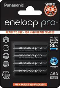 Panasonic Eneloop Pro AAA NiMH 1,2V/900mA BL4