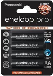 Panasonic Eneloop Pro BK-3HCCE NiMH AA 2450mAh BL4