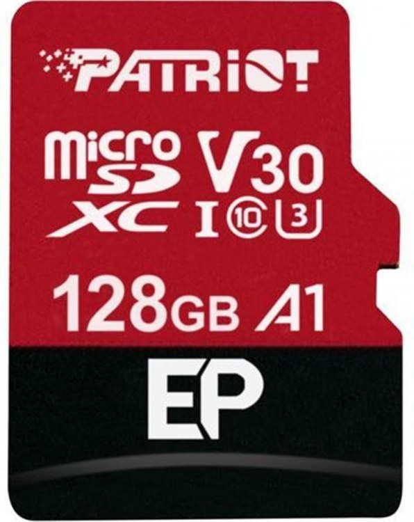 Patriot EP 128GB microSDXC, Class 10 UHS-I V30 A1 + adaptér