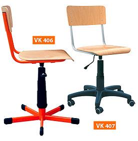 PC stolička otočná na kolieskach, nastaviteľná