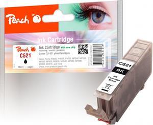 Peach kompatibil s Canon CLI-521bk, čierny