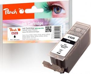 Peach kompatibil s Canon PGI-520bk XL, čierny