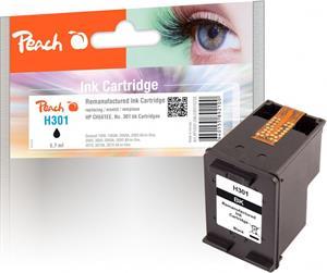Peach kompatibil s HP No. 301, CH561EE, čierny