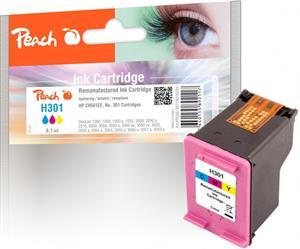 Peach kompatibilní s HP No. 301, CH562EE, farebný