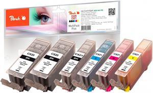 Peach Multi Pack Plus kompatibil s Canon CLI-521XL, 2xPGI-520XL