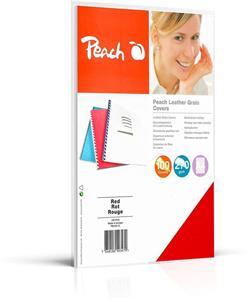 Peach PB100-12, zadná kartónová doska na väzbu, červená
