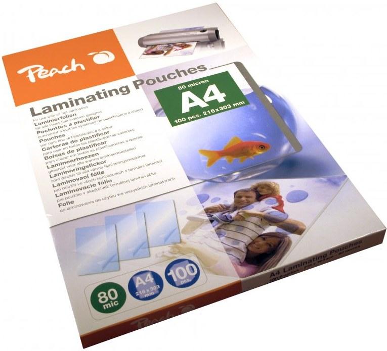 Peach PP580-02, laminovacia fólia A4, 100ks, 80mic, lesklá