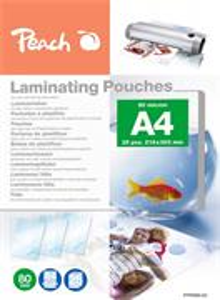 PEACH PPR080-02, laminovacia fólia, 25ks, 80mic, lesklá