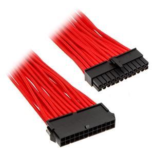 Phanteks 24-pin ATX Extension, predlžovací opletený kábel, 50 cm, červený