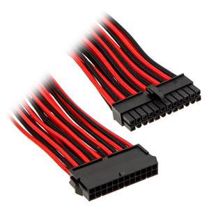 Phanteks 24-pin ATX Extension, predlžovací opletený kábel, 50 cm, čierno-červený