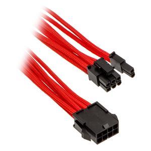Phanteks 6+2-pin PCIe, predlžovací opletený kábel, 50 cm, červený