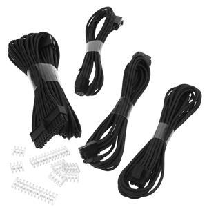 Phanteks Extension, set predlžovacích opletených káblov, 50 cm, čierny