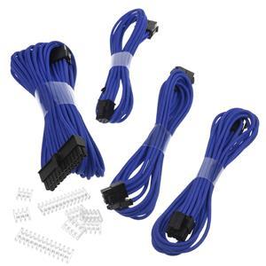 Phanteks Extension, set predlžovacích opletených káblov, 50 cm, modrý