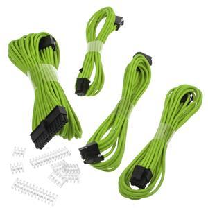 Phanteks Extension, set predlžovacích opletených káblov, 50 cm, zelený