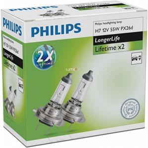 Philips H7 LongerLife dvojnásobná životnosť 12972ELC2 2ks/bal.