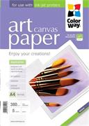 Photo paper ColorWay ART Cotton Canvas 380g/m2, A4, 5pc. (PCN380005A4)