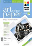 "Photo paper ColorWay ART glossy texture ""strip"" 230g/m2, A4, 10pc. (PGA230010SA4)"