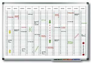 Plánovacia tabuľa ročná PREMIUM vertikálna 60x90 cm