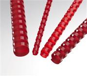 Plastové hřbety 12,5 mm, červené