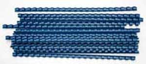 Plastové hrebene 10 modré 53459