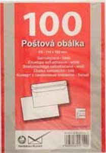 Poštové obálky C6 samolepiace 100 ks
