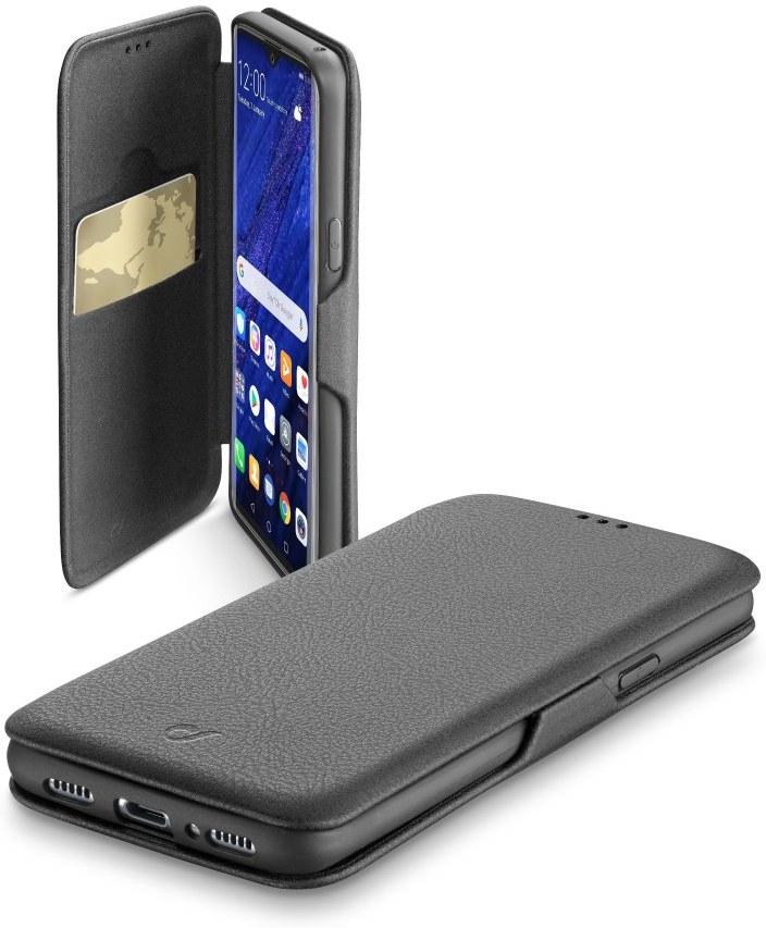 Pouzdro typu kniha CellularLine Book Clutch pre Huawei P30 Pro, čierne