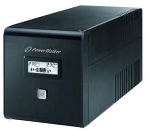 Power Walker UPS Line-Interactive 1000VA 2x 230V EU, 2x IEC, RJ11/RJ45, USB, LCD