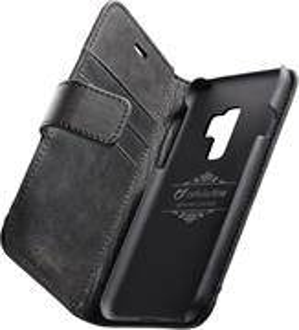 Prémiové kožené puzdro typu kniha Supreme pre Samsung Galaxy S9 Plus, čierne