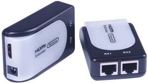 PremiumCord extender HDMI cez RJ45 až na 60,0m cez kábel Cat5e/Cat6