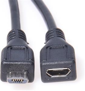 PremiumCord kábel micro USB M/F, predlžovací 2,0m