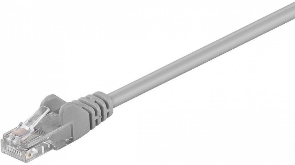PremiumCord patch kábel RJ45, cat. 6, UTP, 0,5m, sivý