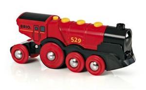 Príslušenstvo Brio Mohutná elektrická červená lokomotiva se světly