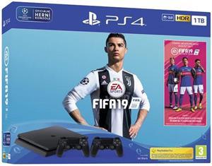 PS4 - Playstation 4 1TB + FIFA 19 + druhý DS4